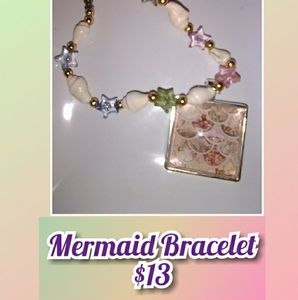 Mermaid cabochon bracelet